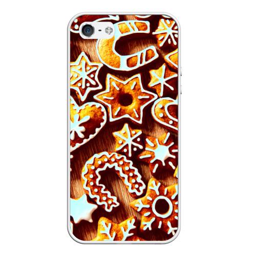 Чехол силиконовый для Телефон Apple iPhone 5/5S Новогоднее печенье от Всемайки