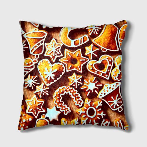 Подушка 3D Новогоднее печенье от Всемайки