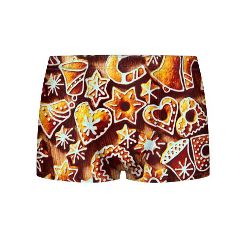 Мужские трусы 3D Новогоднее печенье от Всемайки