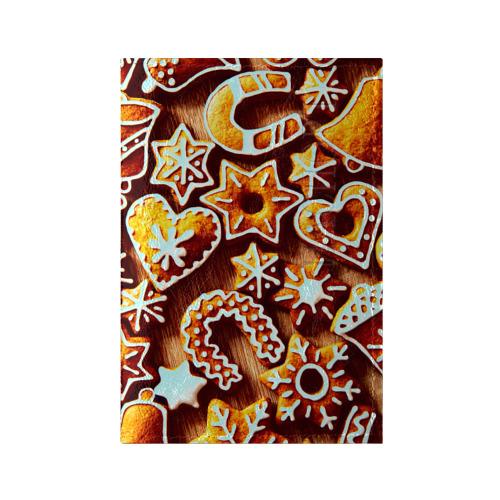 Обложка для паспорта глянцевая кожа Новогоднее печенье от Всемайки