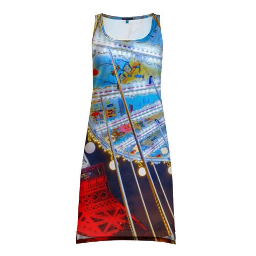 Платье-майка 3D Эйфелева башня