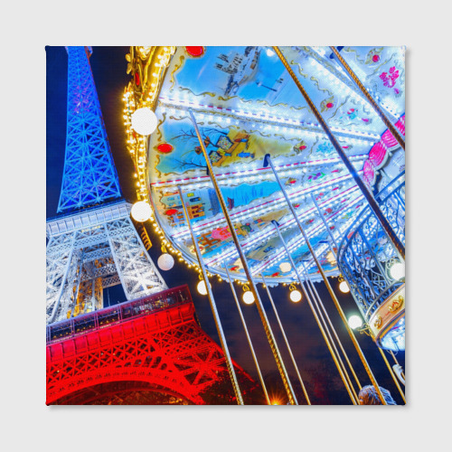 Холст квадратный  Фото 02, Эйфелева башня