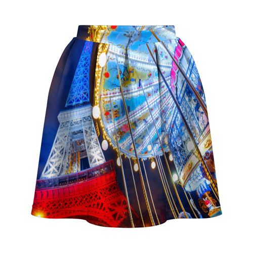 Юбка-солнце 3D Эйфелева башня