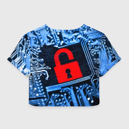 Женская футболка 3D укороченная  Фото 02, Микросхема
