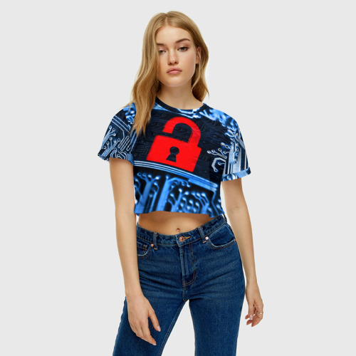 Женская футболка 3D укороченная  Фото 04, Микросхема