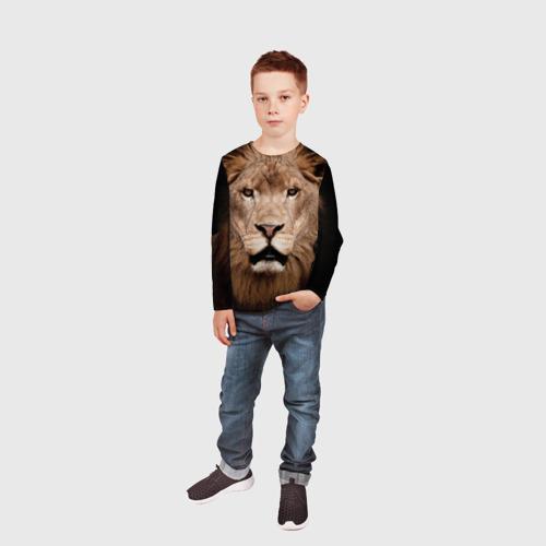Детский лонгслив 3D Царь зверей Фото 01