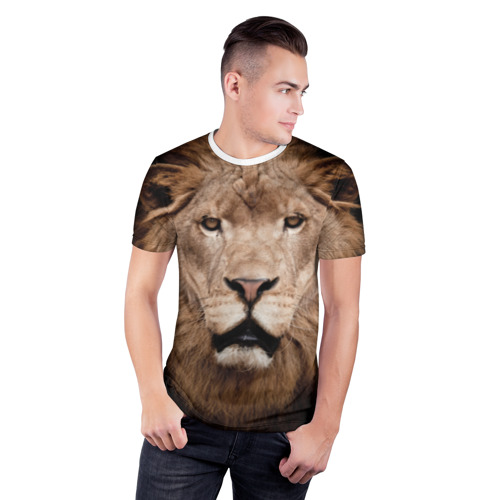 Мужская футболка 3D спортивная  Фото 03, Царь зверей