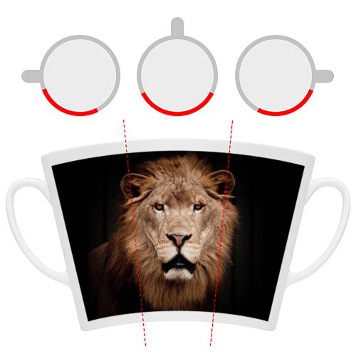 Кружка Латте  Фото 06, Царь зверей