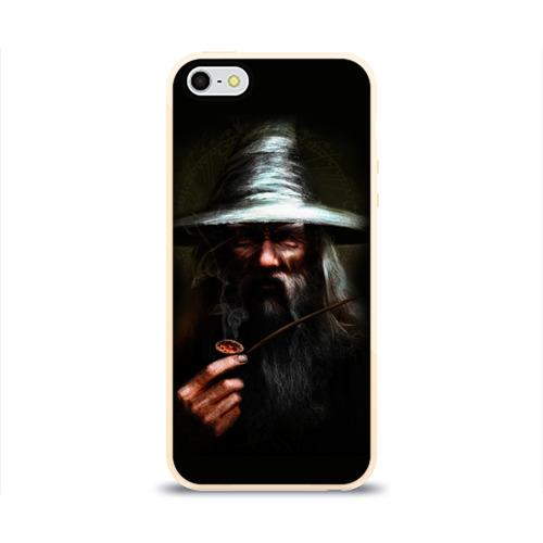 Чехол силиконовый глянцевый для Телефон Apple iPhone 5/5S Гендальф от Всемайки