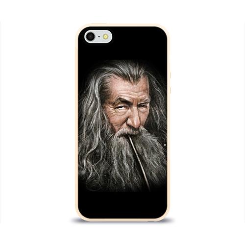 Чехол силиконовый глянцевый для Телефон Apple iPhone 5/5S Гендальф серый от Всемайки