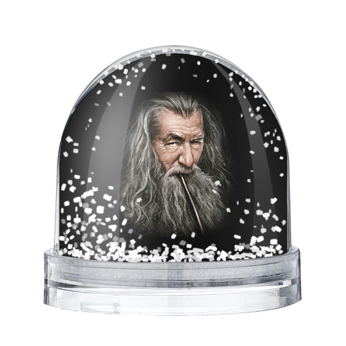 Водяной шар со снегом Гендальф серый