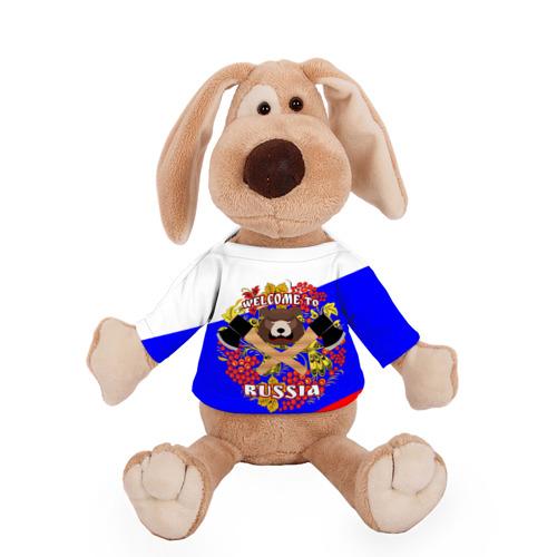 Собачка в футболке  Фото 01, Добро пожаловать в Россию