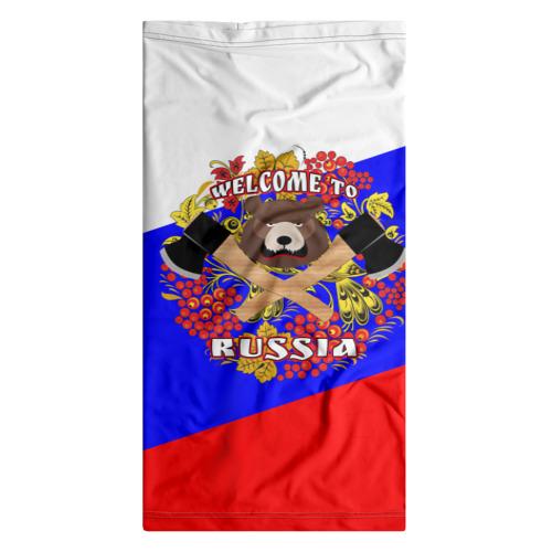 Бандана-труба 3D  Фото 07, Добро пожаловать в Россию