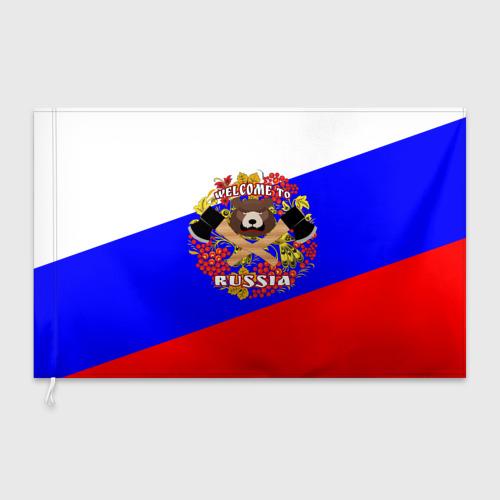 Флаг 3D  Фото 03, Добро пожаловать в Россию