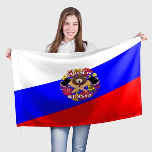 Флаг 3D  Фото 01, Добро пожаловать в Россию