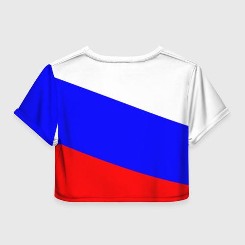 Женская футболка 3D укороченная  Фото 02, Добро пожаловать в Россию