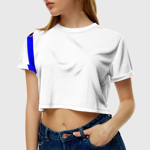 Женская футболка 3D укороченная  Фото 01, Добро пожаловать в Россию
