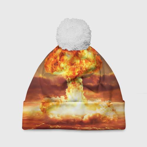 Шапка 3D c помпоном  Фото 01, Атомный взрыв