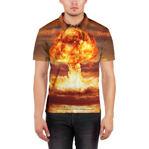 Мужская рубашка поло 3D  Фото 03, Атомный взрыв