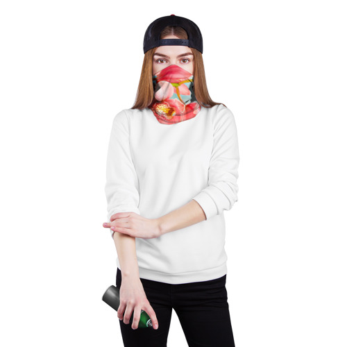 Бандана-труба 3D  Фото 02, Цветы над водой