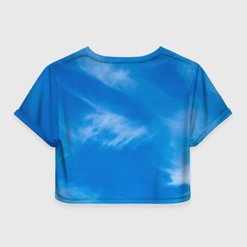 Женская футболка 3D укороченная  Фото 02, Беркут