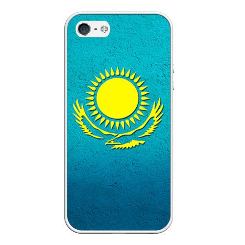 Чехол силиконовый для Телефон Apple iPhone 5/5S Флаг Казахстана