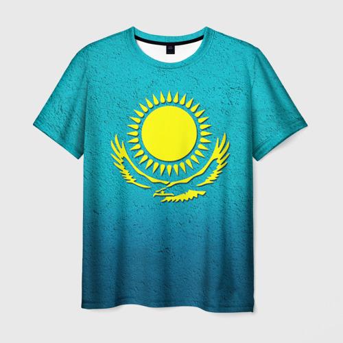 Мужская футболка 3D  Фото 01, Флаг Казахстана