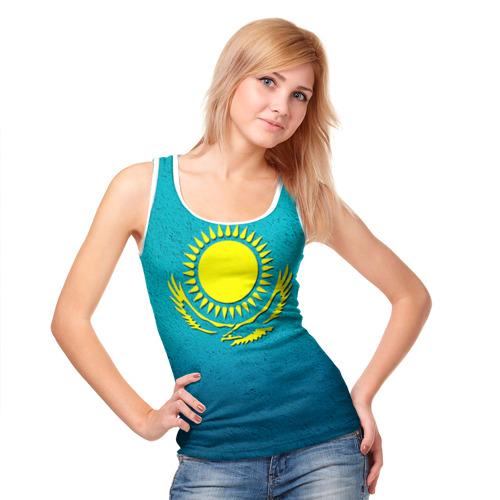 Женская майка 3D  Фото 05, Флаг Казахстана