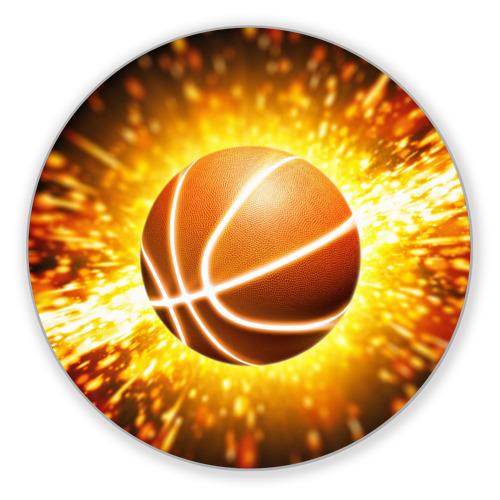 Коврик круглый Баскетбольный мяч от Всемайки