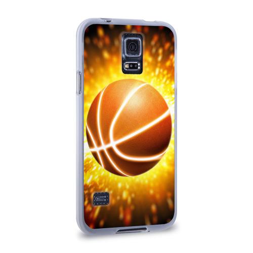 Чехол для Samsung Galaxy S5 силиконовый  Фото 02, Баскетбольный мяч