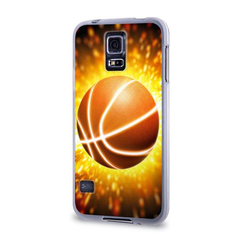 Чехол для Samsung Galaxy S5 силиконовый  Фото 03, Баскетбольный мяч