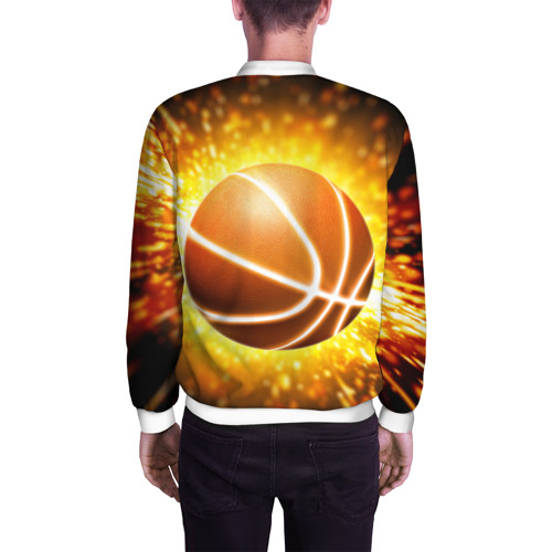 Мужской бомбер 3D  Фото 04, Баскетбольный мяч