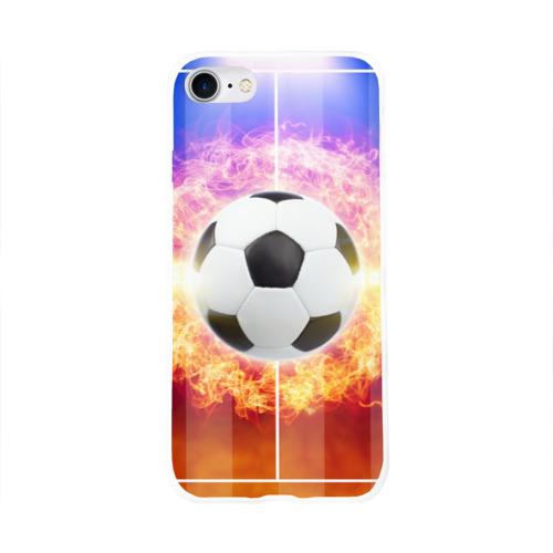 Чехол для Apple iPhone 8 силиконовый глянцевый  Фото 01, Футбол - моя страсть