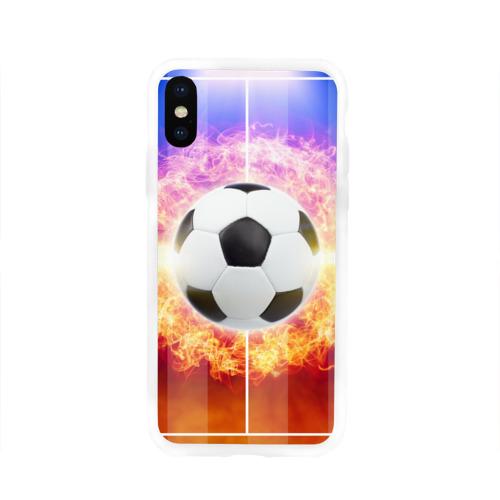 Чехол для Apple iPhone X силиконовый глянцевый Футбол - моя страсть