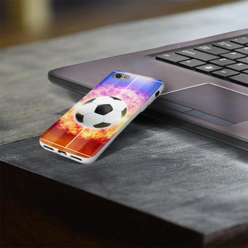 Чехол для Apple iPhone 8 силиконовый глянцевый  Фото 03, Футбол - моя страсть