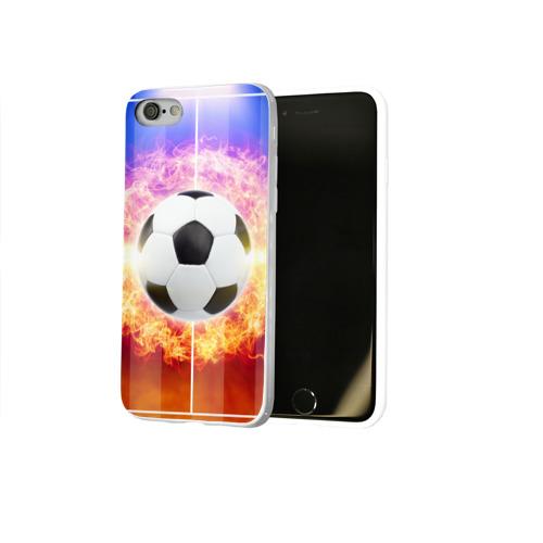 Чехол для Apple iPhone 8 силиконовый глянцевый  Фото 02, Футбол - моя страсть