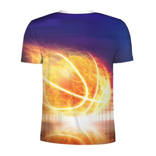 Мужская футболка 3D спортивная  Фото 02, Огненный мяч
