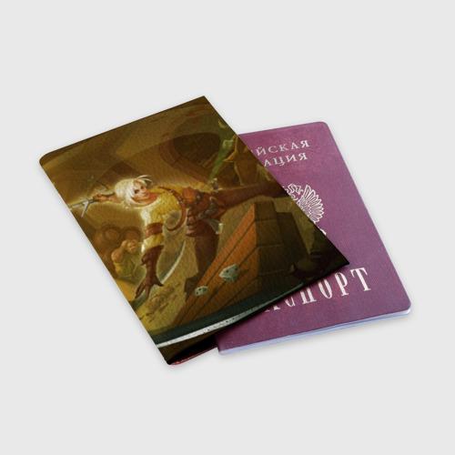 Обложка для паспорта матовая кожа Цирилла Фото 01
