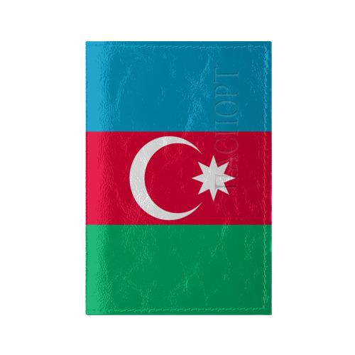 Обложка для паспорта глянцевая кожа Азербайджан