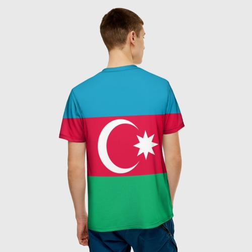 Мужская футболка 3D 'Азербайджан'