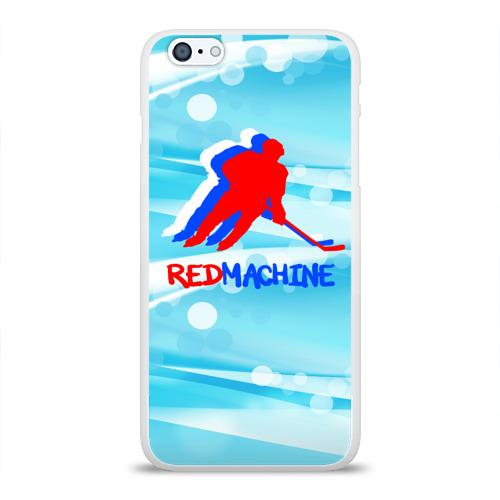 Чехол для Apple iPhone 6Plus/6SPlus силиконовый глянцевый  Фото 01, Red machine (триколор)