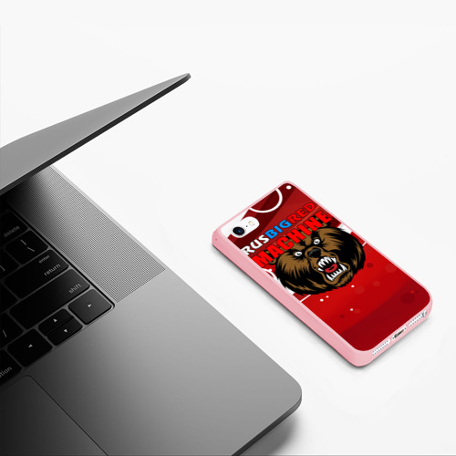 Чехол для iPhone 5/5S матовый Rus big red maсhine Фото 01