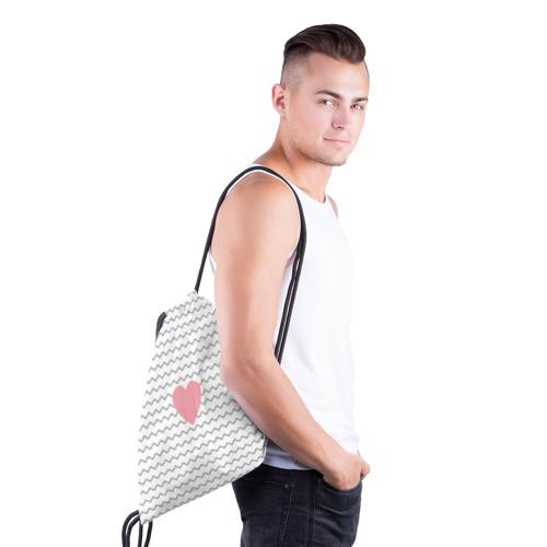 Рюкзак-мешок 3D  Фото 03, Сердечко