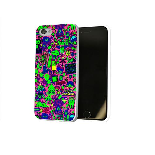 Чехол для Apple iPhone 8 силиконовый глянцевый  Фото 02, sticker bombing