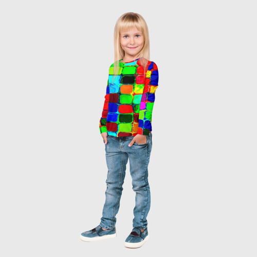 Детский лонгслив 3D  Фото 04, Кубики