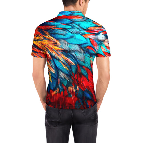 Мужская рубашка поло 3D  Фото 04, Перья