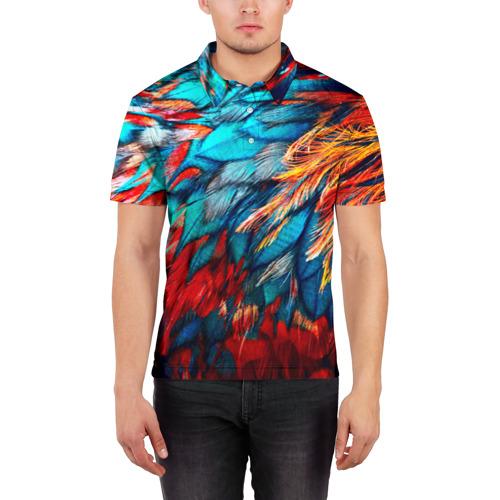 Мужская рубашка поло 3D  Фото 03, Перья