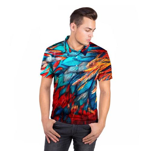 Мужская рубашка поло 3D  Фото 05, Перья