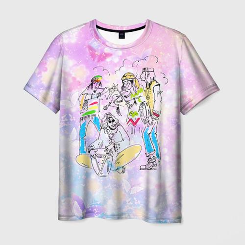 Мужская футболка 3D Хиппи 7