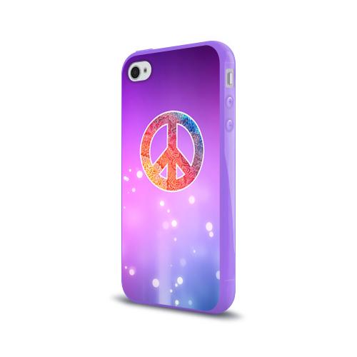 Чехол для Apple iPhone 4/4S силиконовый глянцевый Хиппи 8 Фото 01